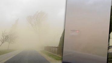 Wichury w Polsce. Burza piaskowa w Wolsztynie utrudniała kierowcom jazdę [WIDEO]