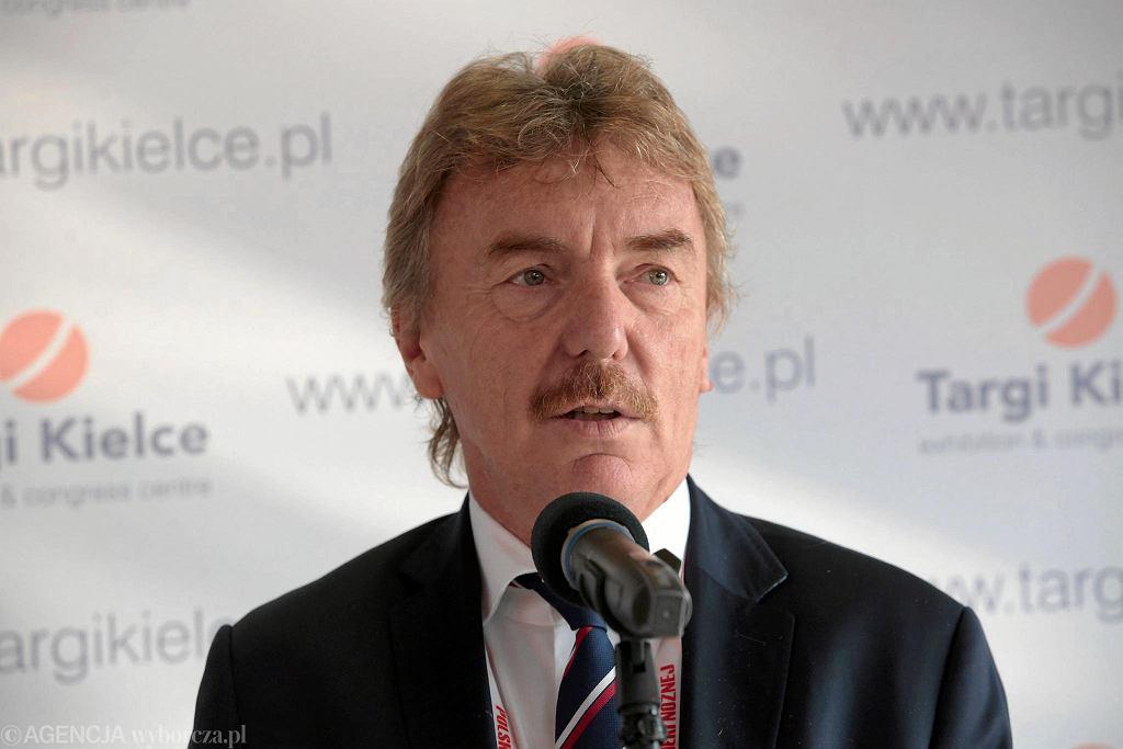 Konferencja prasowa Bezpieczny Stadion. Gościem był m.in. Zbigniew Boniek i minister sportu - Witold Bańka