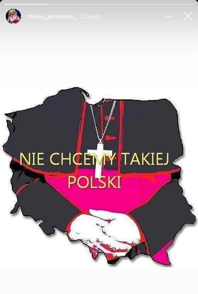 Majka Jeżowska wspiera Strajk Kobiet