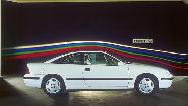Opel Calibra, testy w tunelu aerodynamicznym, 1989r