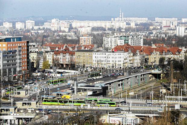 Widok na centrum Poznania
