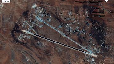 Zdjęcie satelitarne syryjskiej bazy