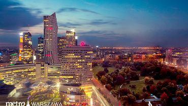 Centrum Warszawy bez Pałacu Kultury