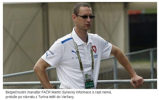 Martin Synecky, odpowiedzialny za kontakty z UEFA i Interpolem przebywa obecnie w Warszawie