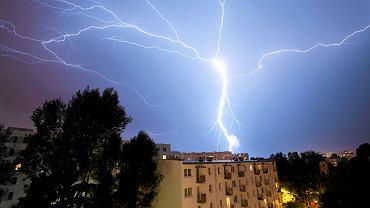 Burza z piorunami nad Warszawą (zdj. ilustracyjne)