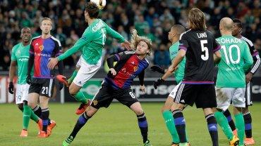 Mecz FC Basel z AS St. Etienne