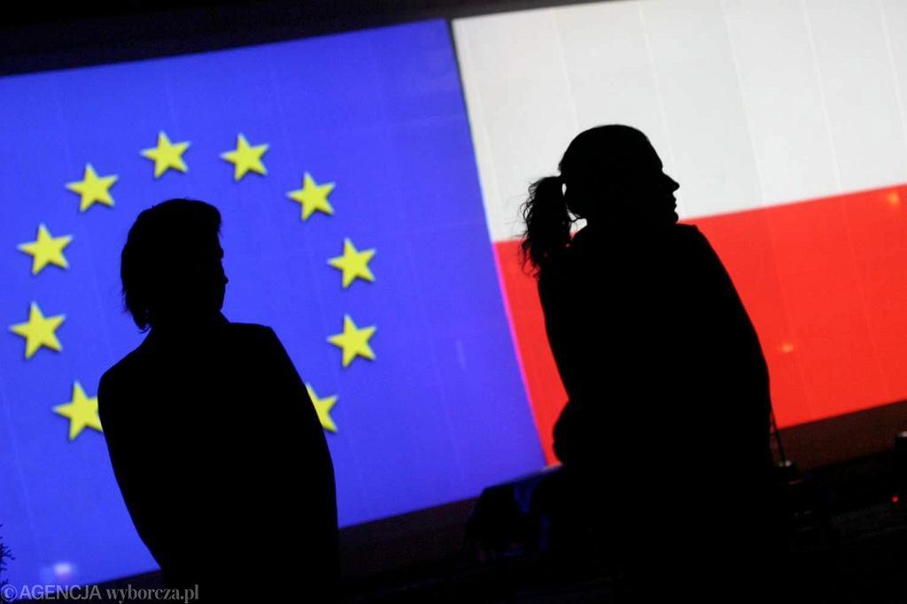 Flaga UE i Polski
