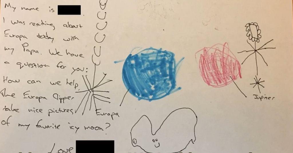 4-latka napisała list do NASA, odpowiedzieli