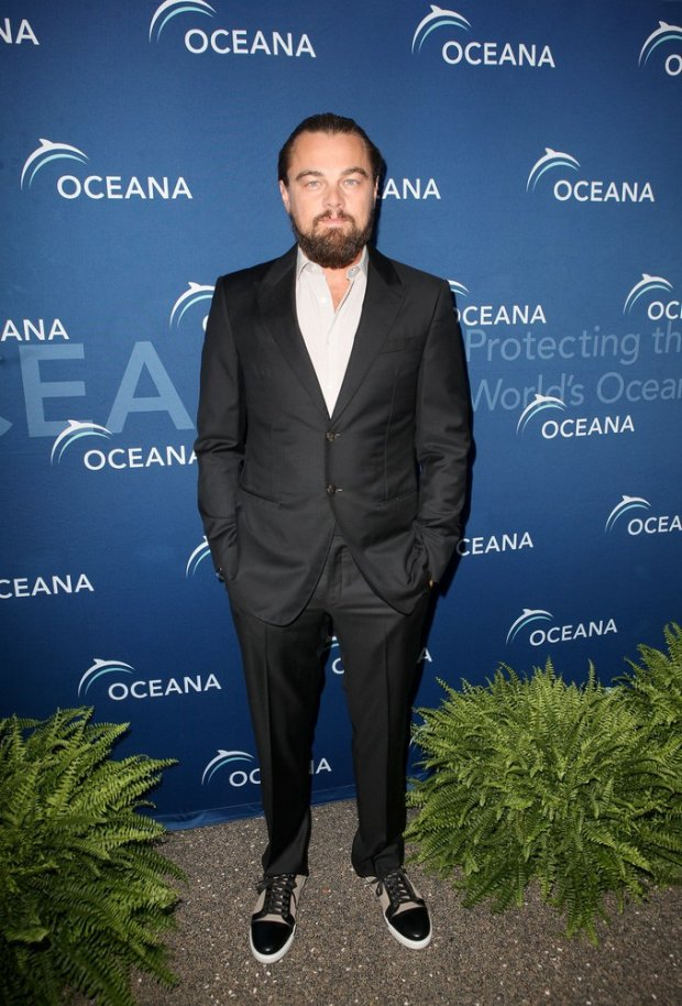 LLeonardo DiCaprio attends the Oceana SeaChange annual fundraising event as the guest of honor held in Laguna Beach,Ca. The Hollywood star posed with Oceana board member Ted Danson on the red carpet and was even photo bombed by a life size shark before taking the stage to talk about ocean conservation.   Pictured: Leonardo Dicaprio