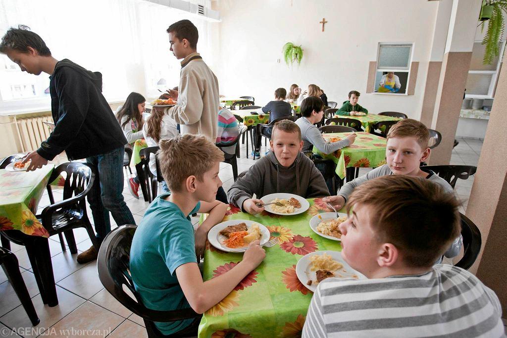 Przerwa obiadowa w Szkole Podstawowej nr 38