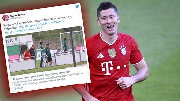 Robert Lewandowski zszedł z treningu Bayernu