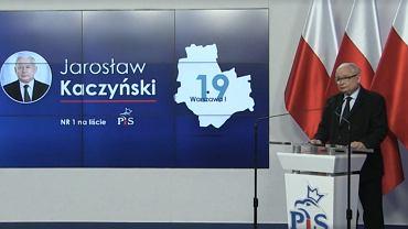 Kaczyński znów liderem listy PiS w Warszawie.