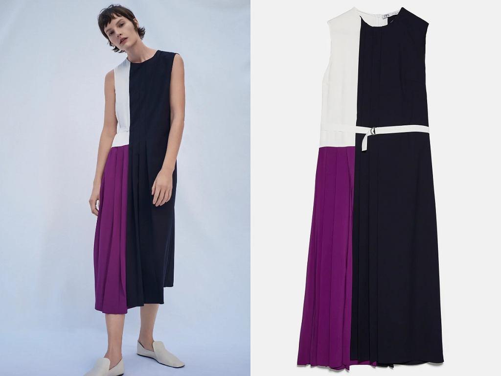 Wyprzedaż Zara - sukienka patchworkowa