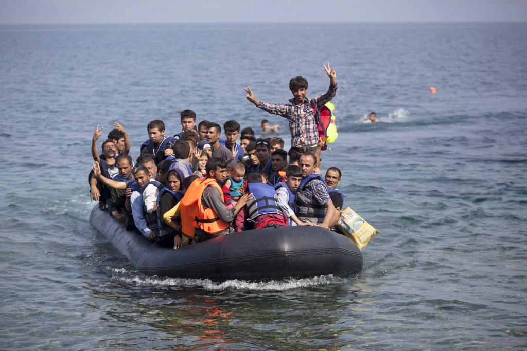 Uchodźcy w drodze do Grecji
