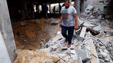 Zniszczenia po izraelskich bombardowaniach w Gazie