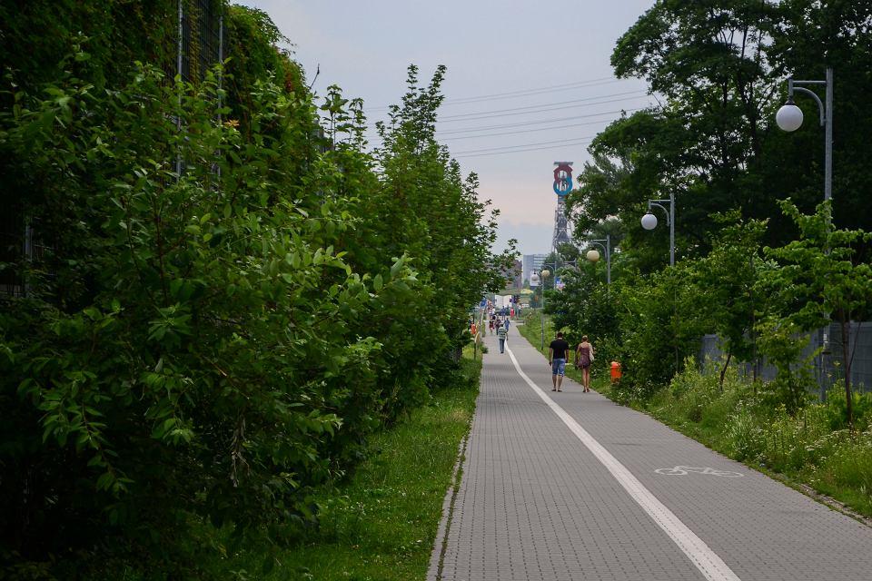 Ciąg pieszo-rowerowy wzdłuż ul. Chorzowskiej w Katowicach