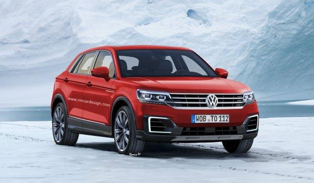 Wizualizacja crossovera na bazie VW Polo