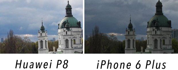 Porównanie zdjęcia zrobionego Huawei P8 i iPhonem 6 Plus