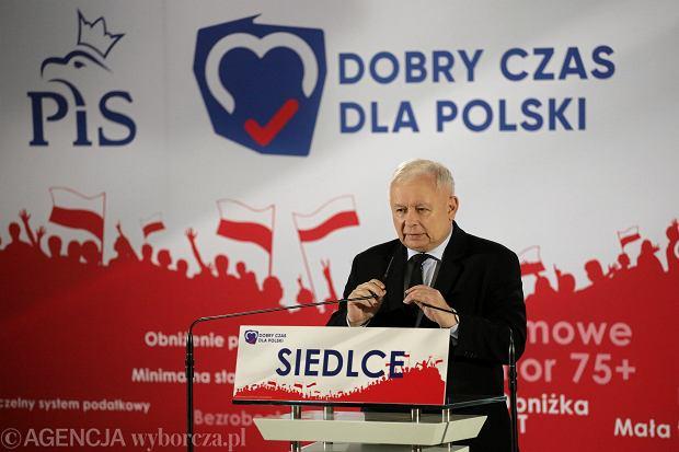 Wybory parlamentarne 2019. Kaczyński w Siedlcach obiecuje nowe województwo