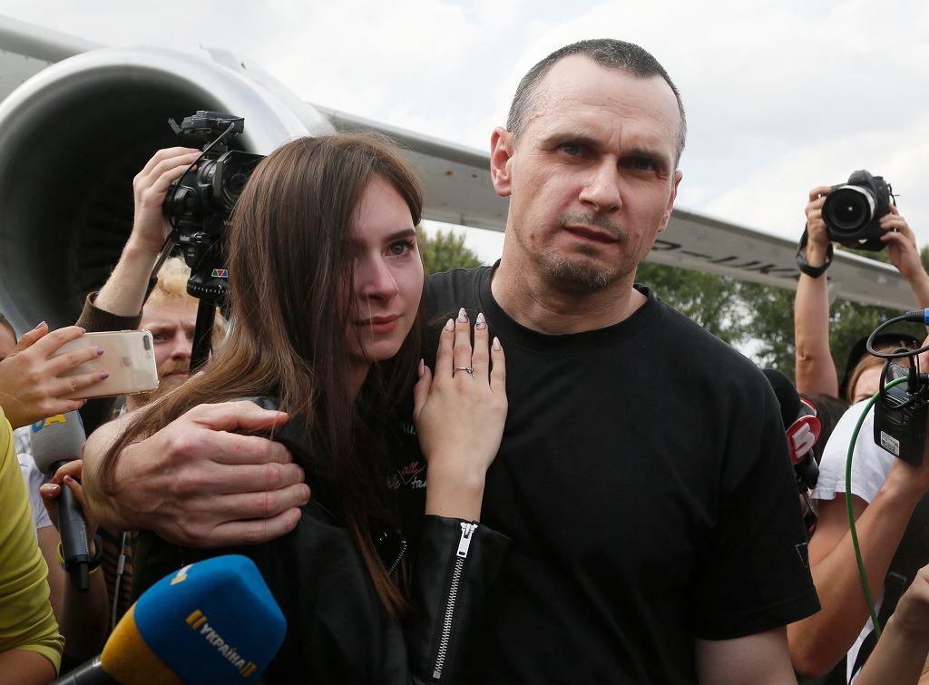 Ołeh Sencow z córką