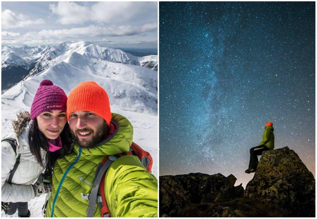 Zaśnieżone szczyty, Mleczna Droga, wschody i zachody słońca. Simon i Michele podczas górskich wędrówek