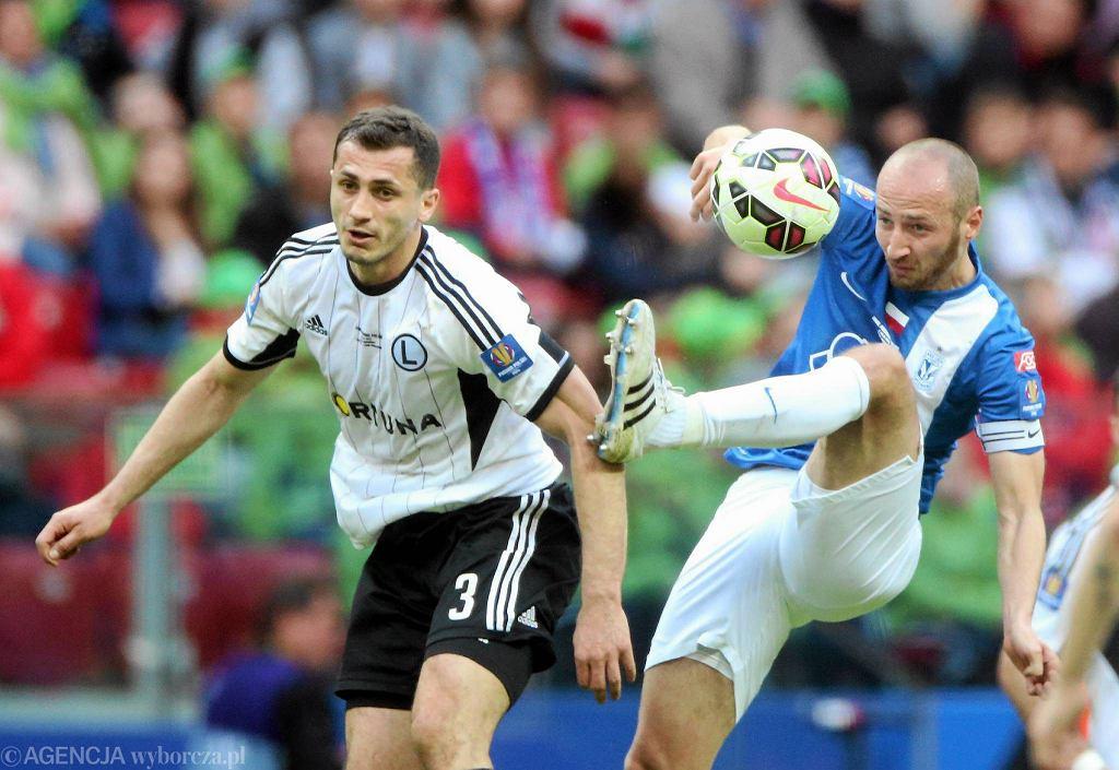Lech Poznań - Legia Warszawa 1:2. Na zdjęciu Tomasz Jodłowiec i Łukasz Trałka