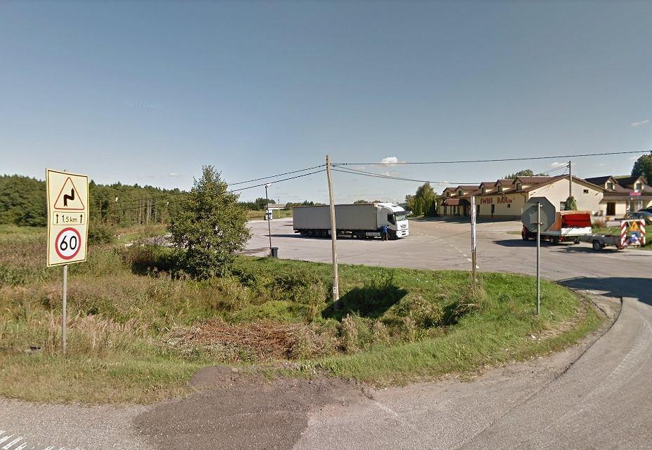 Miejsce na DK8, gdzie pojawia się policja z Suwałk