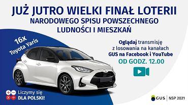 Finał loterii Spisu Powszechnego dzisiaj w południe! Do wygrania 16 samochodów. Transmisja w internecie