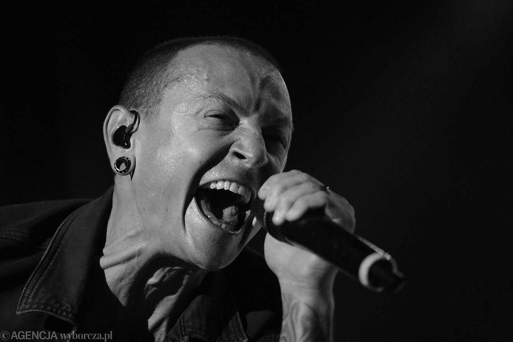 Chester Bennington podczas koncertu Linkin Park w Rybniku, 2015 r. / #Fot. Dominik Gajda / Agencja Gazeta