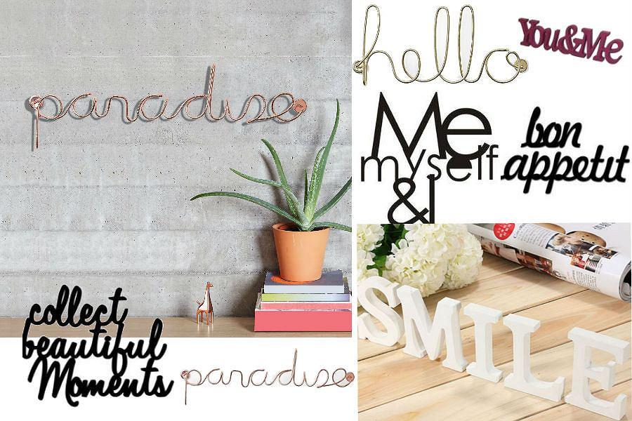 MODNY TREND: dekoracyjne napisy