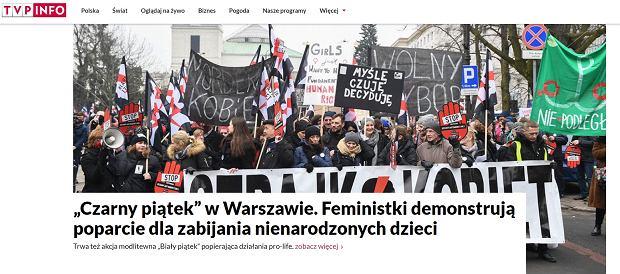 Tak TVP informuje o protestach