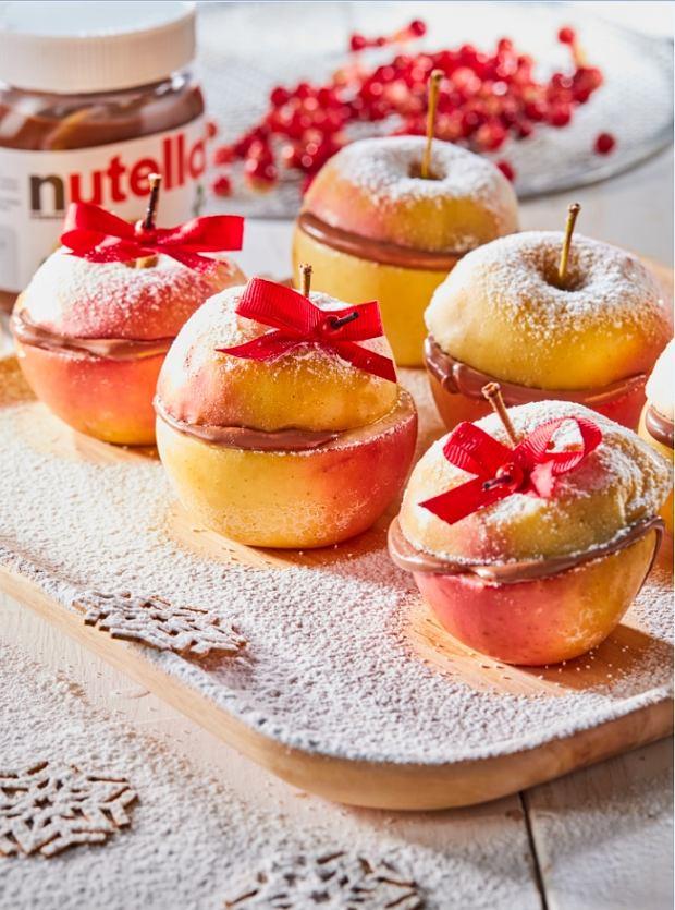 Pieczone jabłka z kremem Nutella