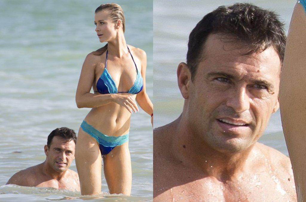 Joanna Krupa w kusym bikini odpoczywała na plaży nad oceanem. Niby widok jak co dzień, ale nas zaciekawiła mina jej męża. W co się tak uważnie wpatrywał? Gdy modelka się odwróciła, jego