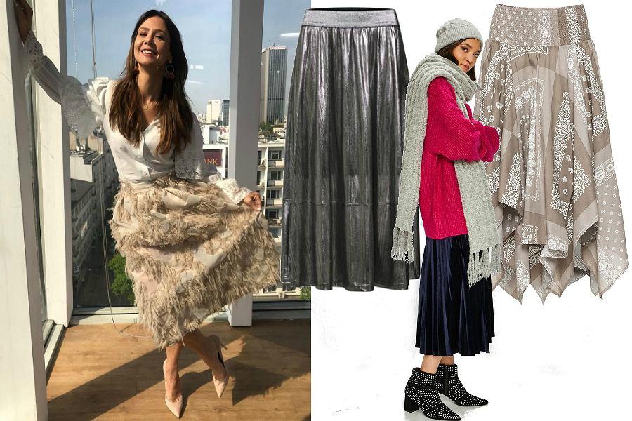 640c2d63ea79f Spódnice midi na zimę: model w stylu Kingi Rusin sprawdzi się na ...