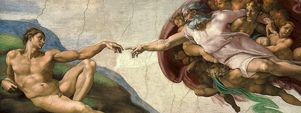 'Stworzenie Adama' Michała Anioła