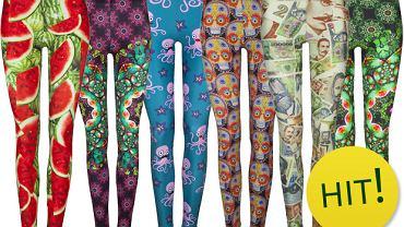 Wzorzyste legginsy
