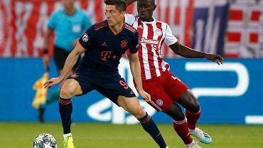 Robert Lewandowski w meczu Ligi Mistrzów z Juventusem Turyn