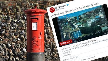 Do adresata w Wielkiej Brytanii po 30 latach dotarła pocztówka