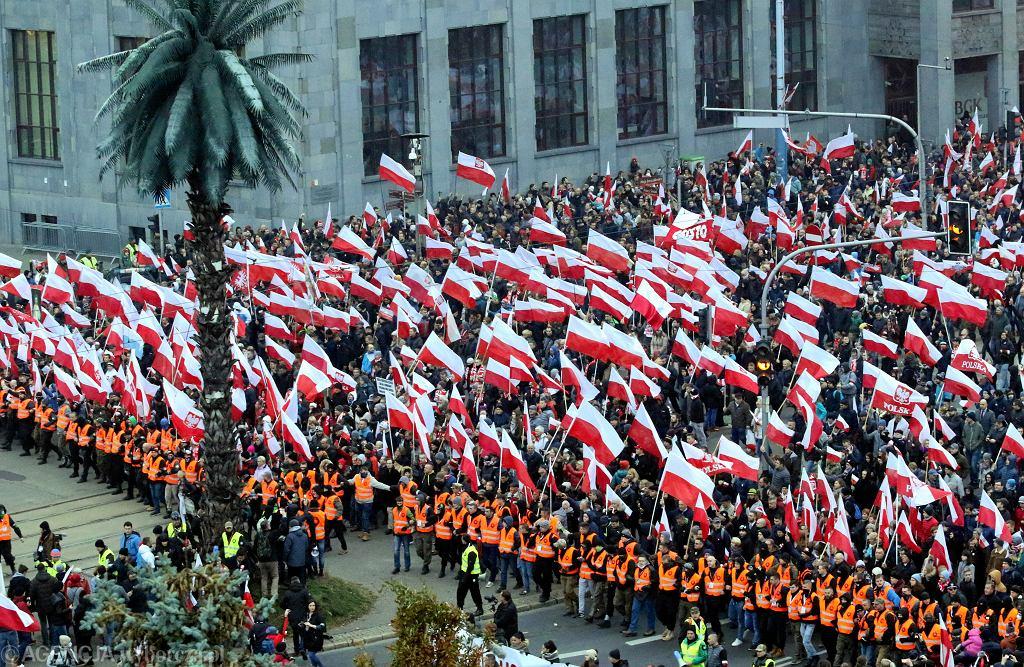 Marsz Niepodległości. 11.11.2018 r.