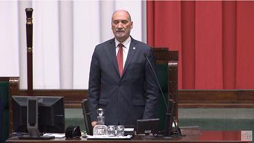 Antoni Macierewicz na inauguracji posiedzenia Sejmu