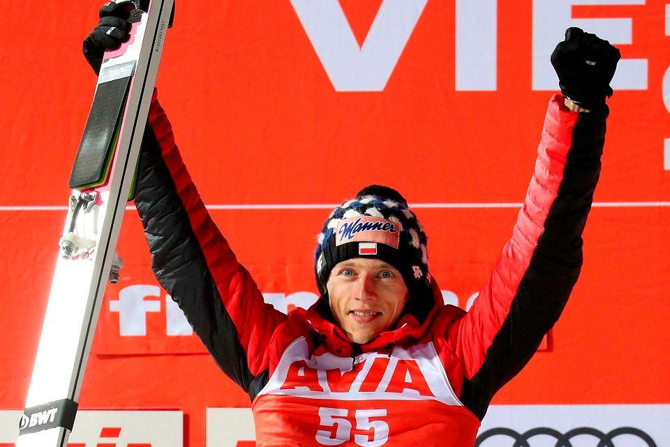 Dawid Kubacki po raz pierwszy w karierze wygrał konkurs Pucharu Świata, Predazzo, Włochy 13.01.2019