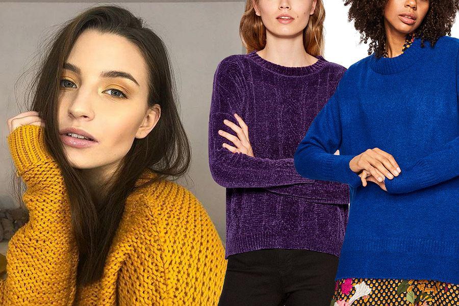 kolorowe swetry damskie / mat. partnera