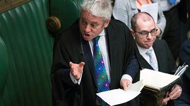 Brexit. John Bercow, spiker Izby Gmin, podczas debaty