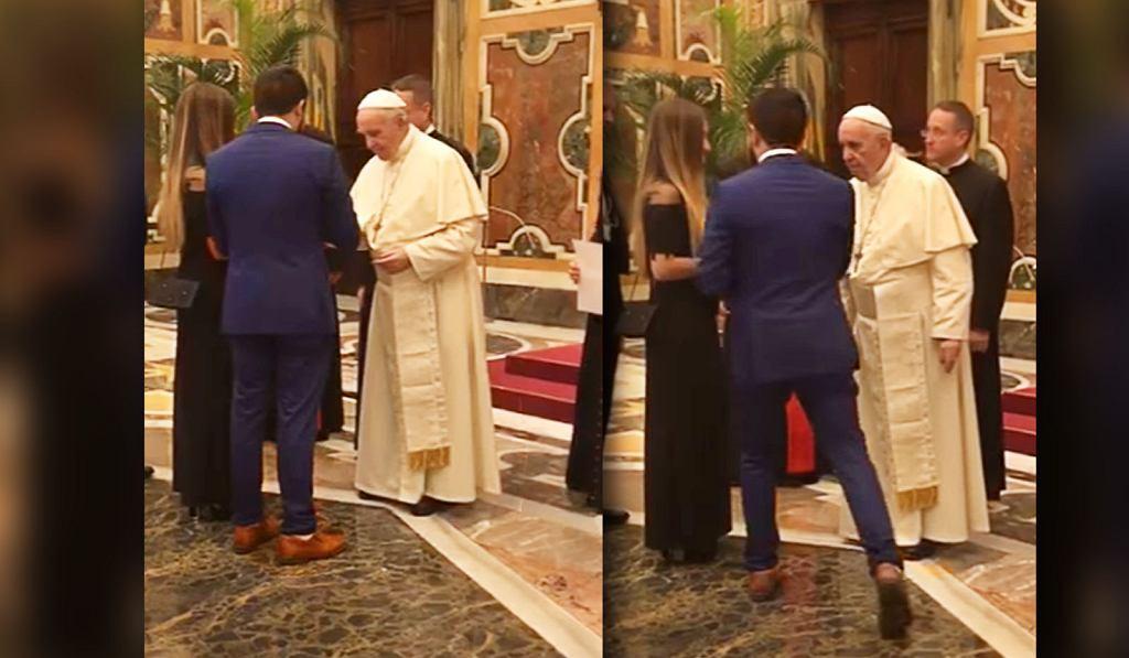 Nietypowe oświadczyny zaskoczyły papieża Franciszka