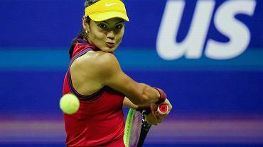 Emma Raducanu w meczu z Marią Sakkari w półfinale US Open