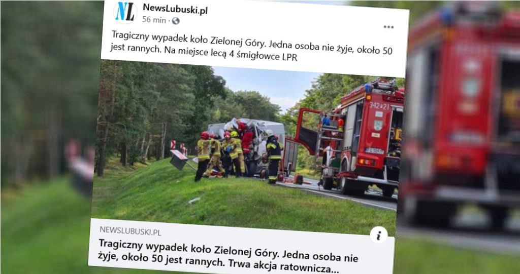 Tragiczny wypadek koło Zielonej Góry