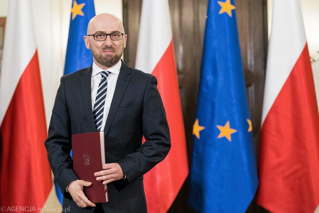 Krzysztof Łapiński podczas powołania na sekretarza stanu w Kancelarii Prezydenta RP - 11 maja 2017 r.