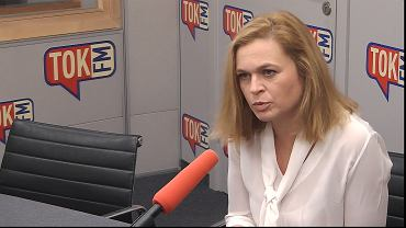 Barbara Nowacka w studiu TOK FM