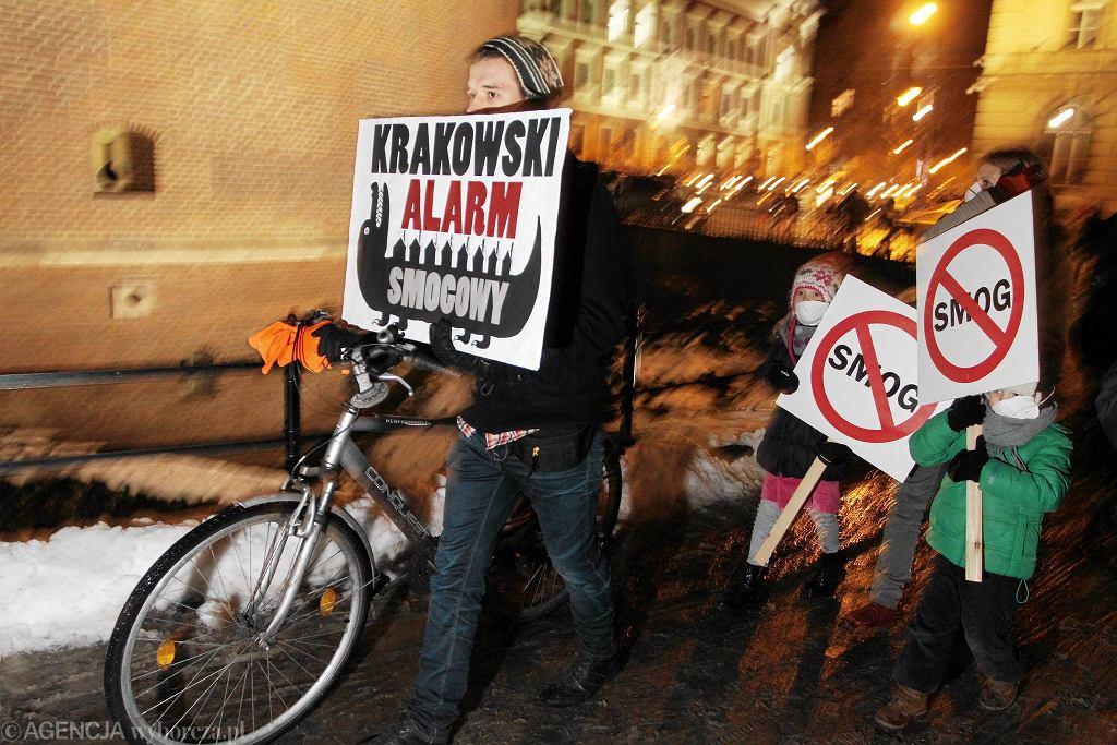 Krakowski Alarm Smogowy - czyli przemarsz ulicami Krakowa w proteście przeciw truciu mieszkańców pyłem z pieców węglowych i zanieczyszczonym powietrzem.