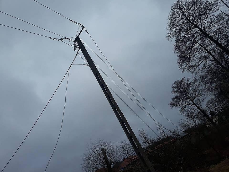 Zerwana linia energetyczna